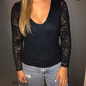 abercrombie lace long sleeve